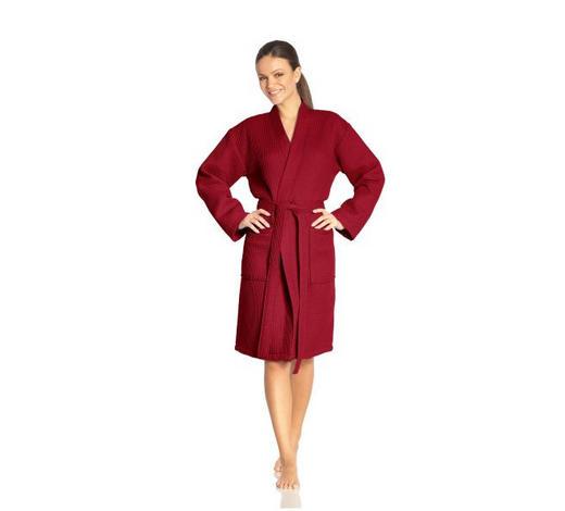 BADEMANTEL L - Rot, Basics, Textil (Lnull) - Vossen