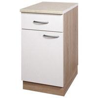 KUHINJSKA SPODNJA OMARICA - aluminij/bela, Design, kovina/leseni material (40/83/55cm) - Boxxx
