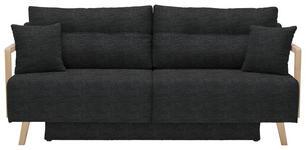SCHLAFSOFA Anthrazit - Anthrazit/Naturfarben, KONVENTIONELL, Holz/Textil (200/92/95cm) - Venda