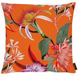 KISSENHÜLLE Grün, Lila, Orange, Rot  - Lila/Rot, Trend, Textil (46x46cm) - Ambiente