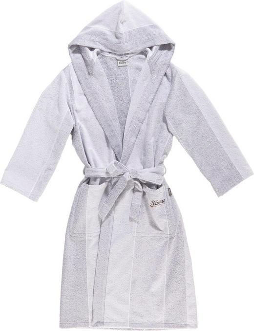 BADEMANTEL  Grau, Silberfarben - Silberfarben/Grau, Basics, Textil (M) - Cawoe