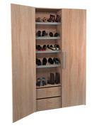 OMARA ZA ČEVLJE hrast sonoma - aluminij/hrast sonoma, Design, kovina/leseni material (100/190/37cm) - Boxxx