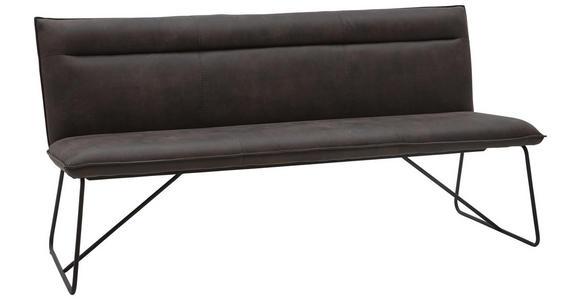 SITZBANK 180/88/66 cm  in Anthrazit, Schwarz - Anthrazit/Schwarz, Design, Textil/Metall (180/88/66cm) - Valnatura
