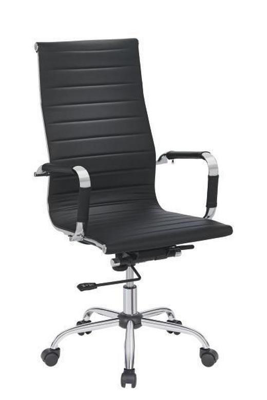 UREDSKA STOLICA - boje kroma/crna, Konvencionalno, metal/tekstil (55,5/106-113,5/65,5cm) - Xora
