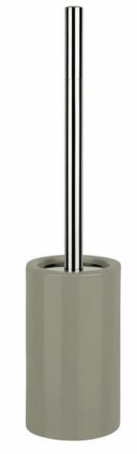 WC-BÜRSTENGARNITUR - Taupe/Silberfarben, Basics, Keramik/Kunststoff (10,5/42cm) - SPIRELLA