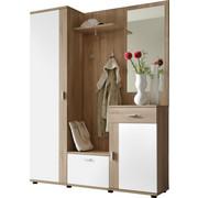 PREDSOBA bela, hrast sonoma - bela/hrast sonoma, Basics, leseni material (145/188/30cm) - Boxxx