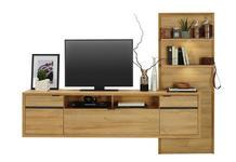 ANBAUWAND in Eichefarben - Eichefarben, Design, Holzwerkstoff (222/170/42cm) - Hom`in