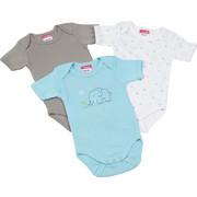 BABYBODY-SET - Taupe/Blau, Basics, Textil (86/92) - MY BABY LOU