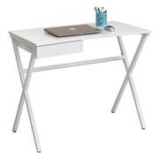 PC STŮL, bílá - bílá, Design, kov/kompozitní dřevo (90/76/48cm) - Carryhome