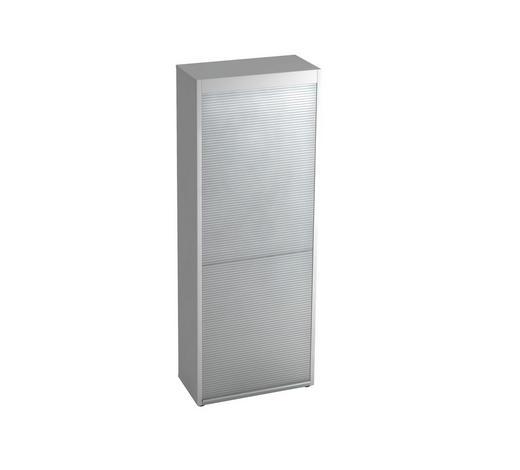 ROLLOSCHRANK - Silberfarben/Alufarben, KONVENTIONELL, Holzwerkstoff/Kunststoff (80/215,6/42cm)