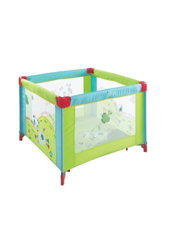 OHRÁDKA DĚTSKÁ, 100/100/74 cm - modrá/zelená, Basics, kov/textil (100/100/74cm) - My Baby Lou