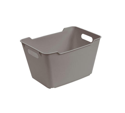 KOŠARA - siva, Basics, plastika (35,5/23,5/20cm)