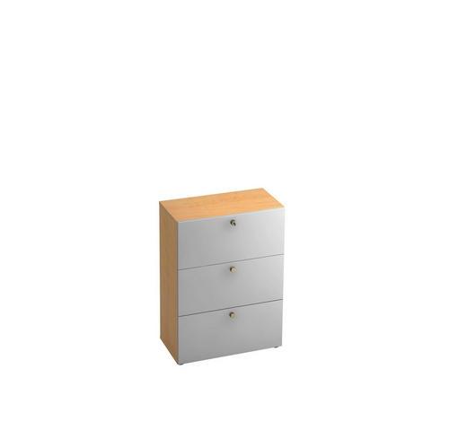 HÄNGEREGISTERELEMENT - Silberfarben/Ahornfarben, KONVENTIONELL, Holzwerkstoff/Kunststoff (80/110/42cm)