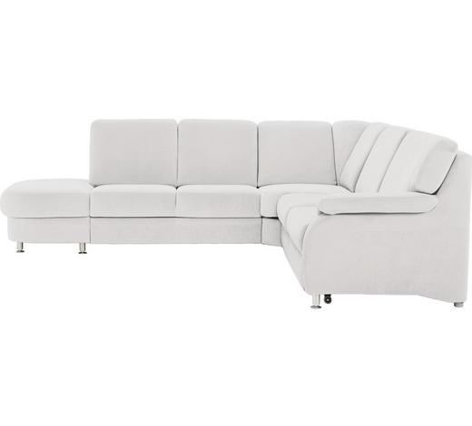 WOHNLANDSCHAFT in Textil Grau - Alufarben/Grau, KONVENTIONELL, Textil/Metall (287/269cm) - Beldomo System