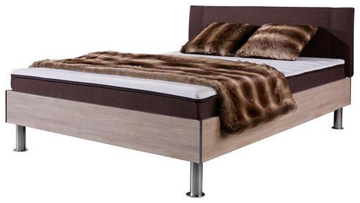 FUTONBETT 120/200 cm - Chromfarben/Eichefarben, Design, Textil/Metall (120/200cm) - Carryhome