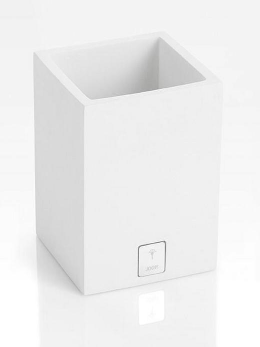 ZAHNBÜRSTENHALTER - Weiß, Design, Kunststoff (7,5/11/7,5cm) - Joop!