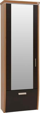GARDEROBENSCHRANK - Buchefarben/Alufarben, Design, Glas/Holz (62/186/31cm) - Dieter Knoll