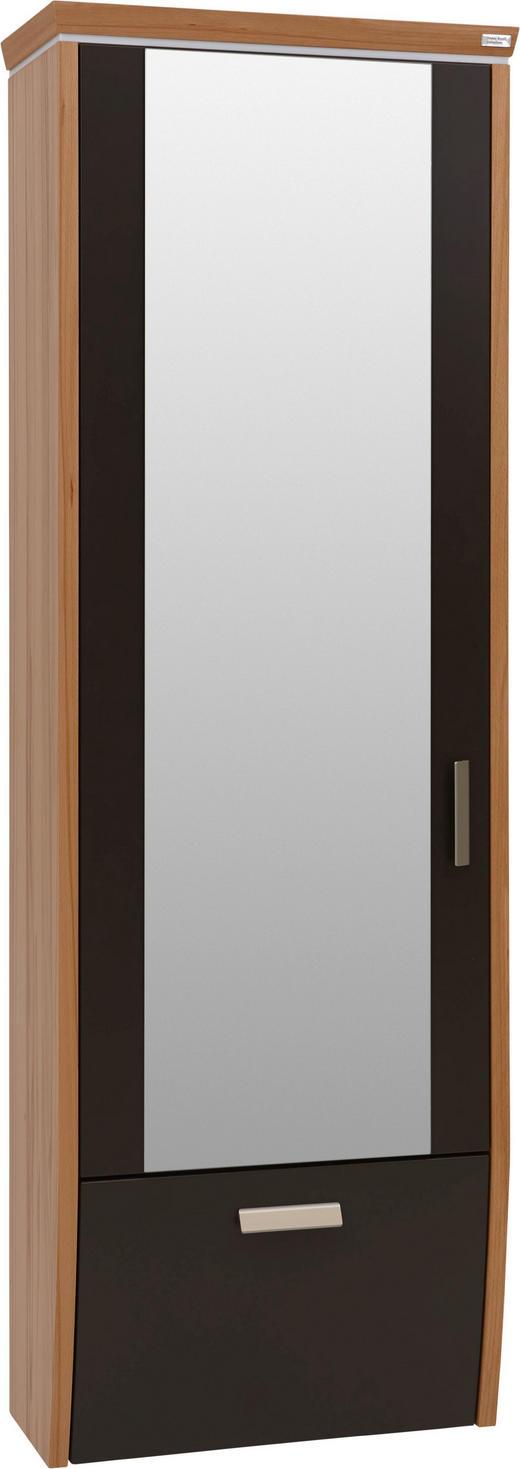 GARDEROBENSCHRANK Strukturbuche furniert lackiert Braun, Buchefarben - Buchefarben/Alufarben, Design, Glas/Holz (62/186/31cm) - Dieter Knoll