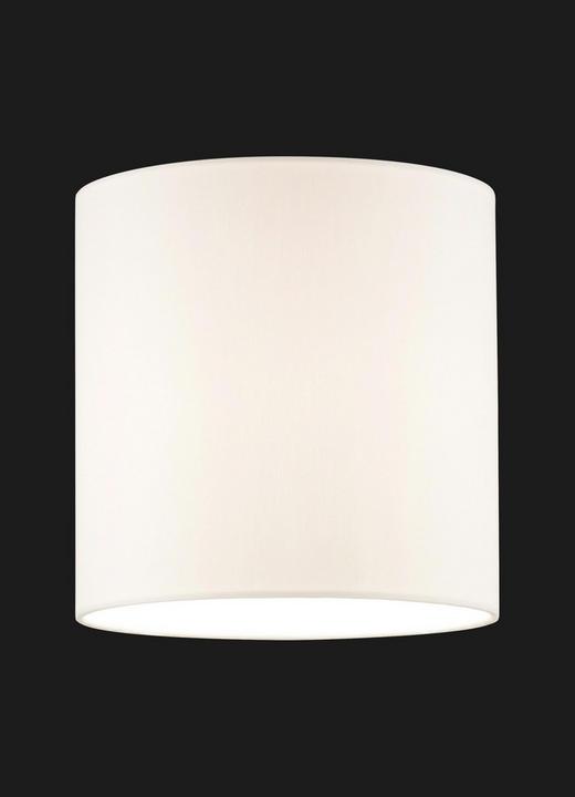 LEUCHTENSCHIRM  Creme, Weiß  Kunststoff, Textil  E27 - Creme/Weiß, Design, Kunststoff/Textil (18/18cm)