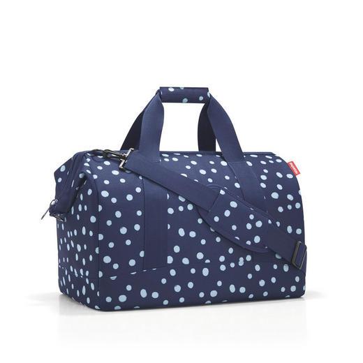 ALLROUNDER L SPOTS NAVY - Blau, Basics, Textil (48/39,5/29cm) - Reisenthel