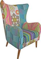 FOTELJA - Design, drvo/tekstil (73/106/79cm) - HOM IN