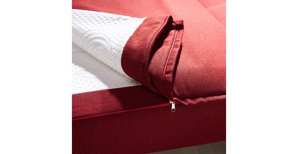 SCHLAFSOFA in Textil Rot  - Beige/Rot, MODERN, Holz/Textil (145/90/96cm) - Novel