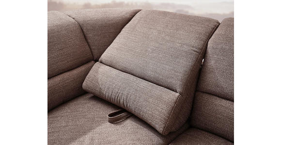 WOHNLANDSCHAFT in Textil Braun  - Chromfarben/Braun, KONVENTIONELL, Kunststoff/Textil (275/245cm) - Cantus