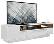 TV-ELEMENT Eichefarben, Weiß - Chromfarben/Eichefarben, Design, Metall (215/57/52cm) - Hom`in