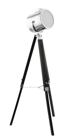 GOLVLAMPA - kromfärg/svart, Trend, metall/trä (70/150cm) - Marama