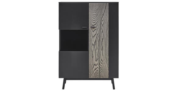 HIGHBOARD 97,5/144/41,2 cm  - Anthrazit/Grau, MODERN, Glas/Holz (97,5/144/41,2cm) - Dieter Knoll
