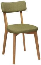 STUHL in Holz, Textil Eichefarben, Grün - Eichefarben/Grün, Design, Holz/Textil (44/82/55cm) - Carryhome