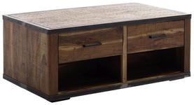 COUCHTISCH in Holz, Metall, Holzwerkstoff   - Walnussfarben, LIFESTYLE, Holz/Holzwerkstoff (115/42/65cm) - Landscape