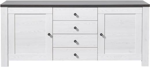 SIDEBOARD Pinienfarben, Weiß - Weiß/Pinienfarben, Design, Holz/Holzwerkstoff (178/76/40cm) - Carryhome