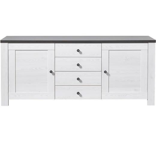 SIDEBOARD 178/76/40 cm - Weiß/Pinienfarben, Design, Holz/Holzwerkstoff (178/76/40cm) - Carryhome
