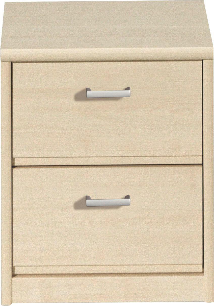 SÄNGBORD - alufärgad/lönnfärgad, Klassisk, träbaserade material/plast (38/46/36cm) - CS SCHMAL