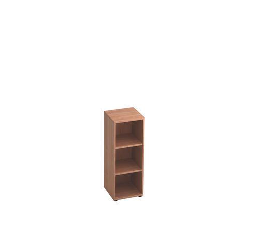REGAL in Nussbaumfarben - Nussbaumfarben/Schwarz, KONVENTIONELL, Holzwerkstoff/Kunststoff (40/110/40cm)