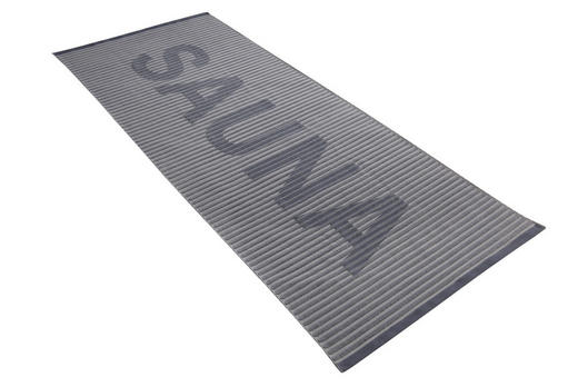 SAUNATUCH 80/200 cm - Graphitfarben, Basics, Textil (80/200cm) - VOSSEN