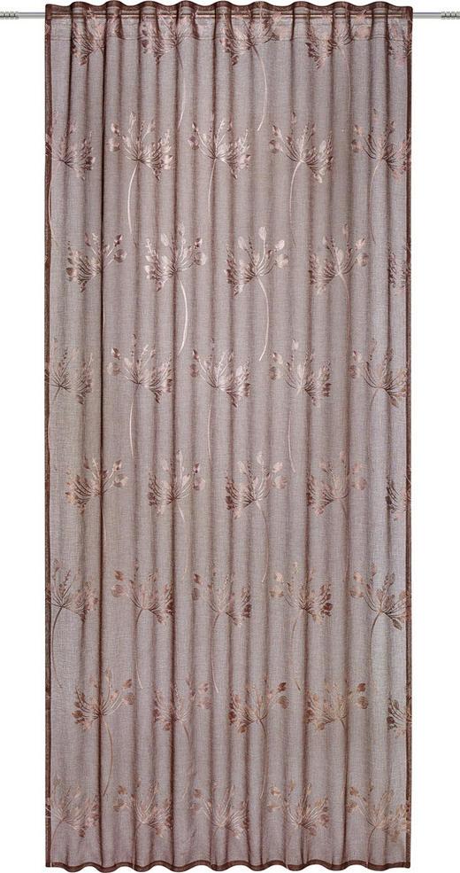 FERTIGVORHANG  halbtransparent  135/245 cm - Braun, KONVENTIONELL, Textil (135/245cm) - Esposa