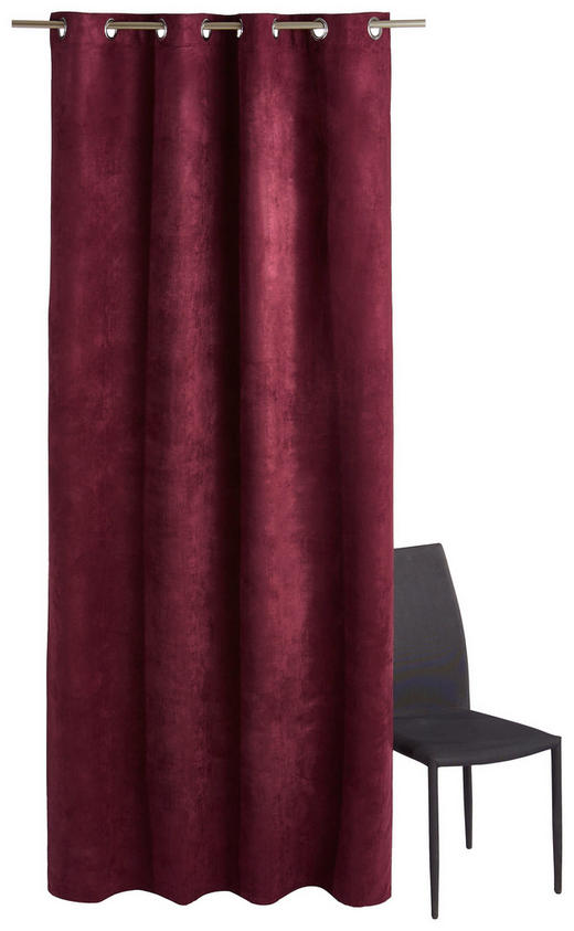 ÖSENSCHAL  blickdicht   140/245 cm - Beere, Basics, Textil (140/245cm)