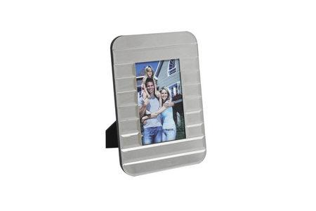 RAM ZA FOTOGRAFIJE - Srebrna, Dizajnerski, Staklo/Pločasti materijal (17/25cm) - Ambia Home