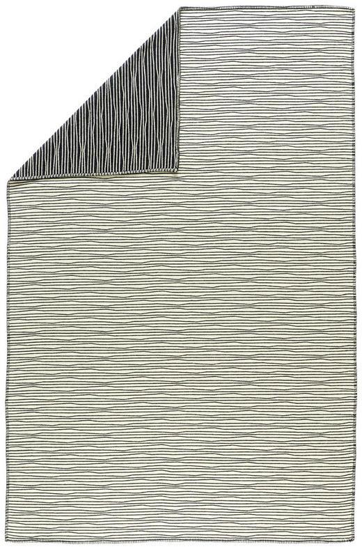 KUSCHELDECKE - Schwarz/Weiß, Design, Textil (145/220cm) - David Fussenegger