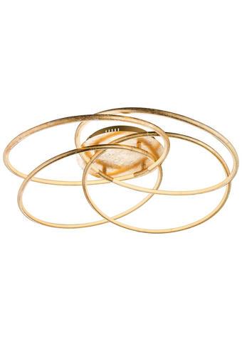 STROPNA LED SVETILKA 67828-60G - zlata, Trendi, kovina/umetna masa (85/21cm)