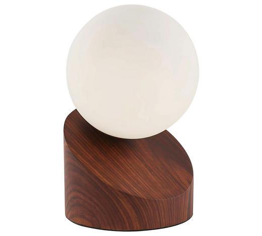 LED-TISCHLEUCHTE - Eichefarben/Dunkelbraun, Natur, Glas/Metall (16cm) - Boxxx
