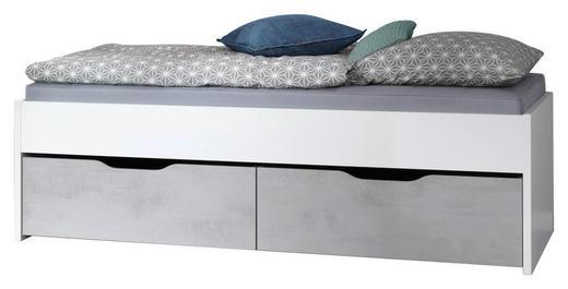 STAURAUMBETT 100/200 cm - Weiß/Grau, Design (100/200cm) - Welnova