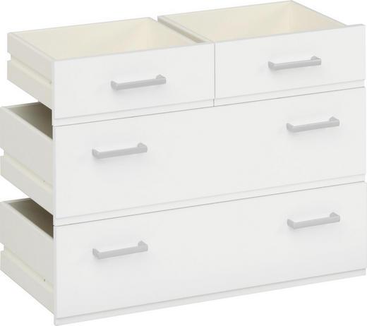 SCHUBKASTENEINSATZ Weiß - Weiß, Design (68/51/35cm) - CS SCHMAL