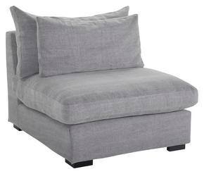 FÅTÖLJ - svart/grå, Modern, trä/textil (90/80/107cm)