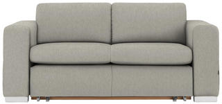 SCHLAFSOFA in Textil Hellgrau  - Hellgrau/Alufarben, KONVENTIONELL, Kunststoff/Textil (190/83/98cm) - Carryhome