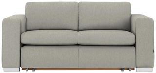 SCHLAFSOFA in Textil Hellgrau  - Silberfarben/Hellgrau, KONVENTIONELL, Kunststoff/Textil (190/83/98cm) - Carryhome