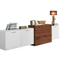 SIDEBOARD 247/92/51,9 cm - Edelstahlfarben/Nussbaumfarben, Design, Holz/Holzwerkstoff (247/92/51,9cm) - Ambiente by Hülsta