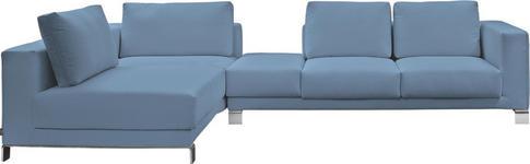 WOHNLANDSCHAFT in Blau Textil - Chromfarben/Blau, Design, Textil/Metall (206/326cm) - DIETER KNOLL